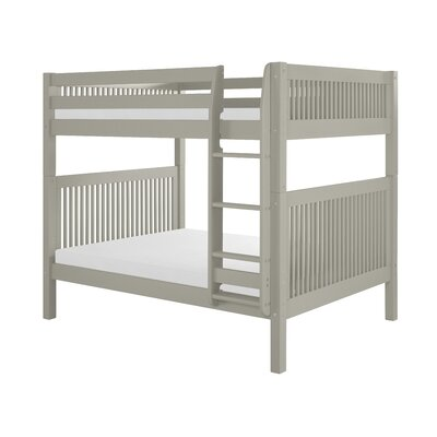 Oakwood Full Over Full Bunk Bed Finish: Grey