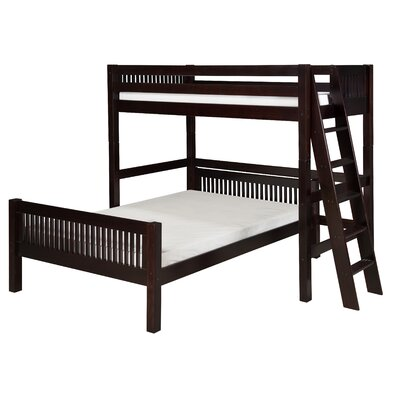 Isabelle Twin Over Full L-Shaped Bunk Bed Finish: Cappuccino