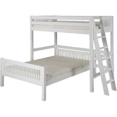 Isabelle Twin Over Full L-Shaped Bunk Bed Color: White