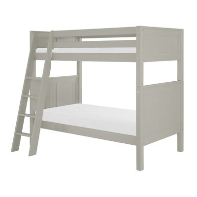 Isabelle Twin over Twin Bunk Bed Color: Grey