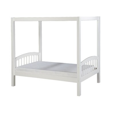 Isabelle Twin Canopy Bed Color: White
