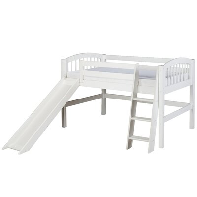 Isabelle Twin Low Loft Bed Finish: White