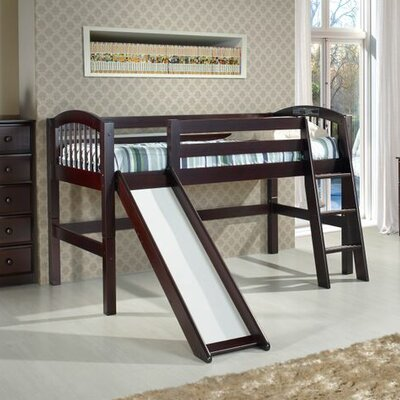 Oakwood Twin Wood Low Loft Bed Color: Cappuccino