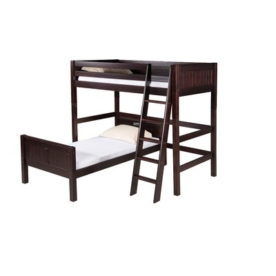 Isabelle Twin L-Shaped Bunk Bed Finish: Cappuccino