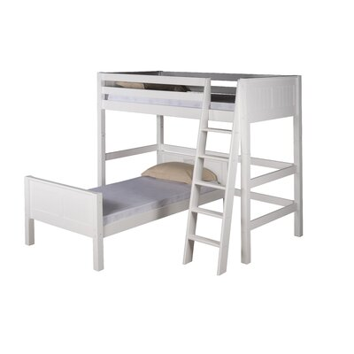 Isabelle Twin over Twin L-Shaped Bunk Bed Color: White