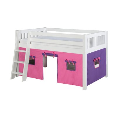 Isabelle Low Loft Bed Finish: White