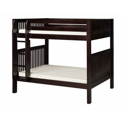Oakwood Twin over Twin Bunk Bed Color: Cappuccino