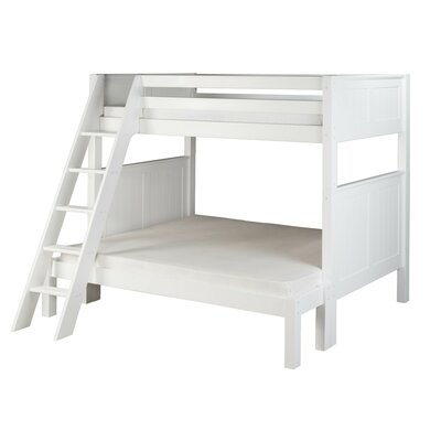 Oakwood Twin over Full Bunk Bed Color: White