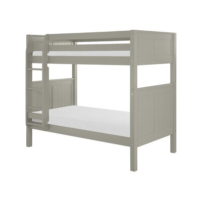 Oakwood Traditional Twin over Twin Bunk Bed Color: Grey