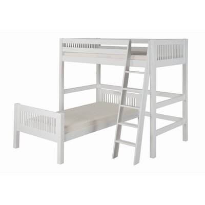 Oakwood L-Shaped Bunk Bed Finish: White, Configuration: Twin Over Twin