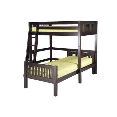 Oakwood L-Shaped Bunk Bed Finish: Cappuccino, Configuration: Twin Over Twin