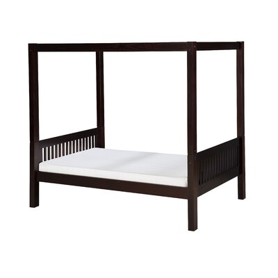 Isabelle Twin Canopy Bed Color: Cappuccino