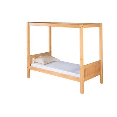 Isabelle Twin Canopy Bed Finish: Natural