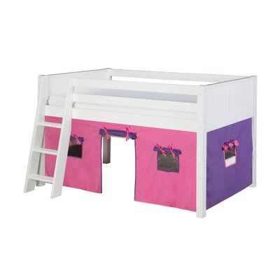 Oakwood Twin Pine Wood Low Loft Bed Finish: White