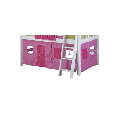 Isabelle Fabric Tent Kit For Low Loft Bed Color: Pink