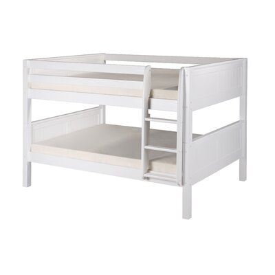 Full over Full Bunk Bed Bed Frame Color: White