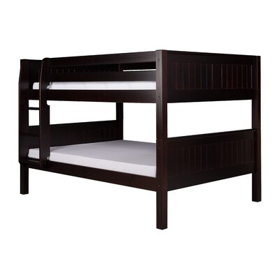 Full over Full Bunk Bed Bed Frame Color: Cappuccino