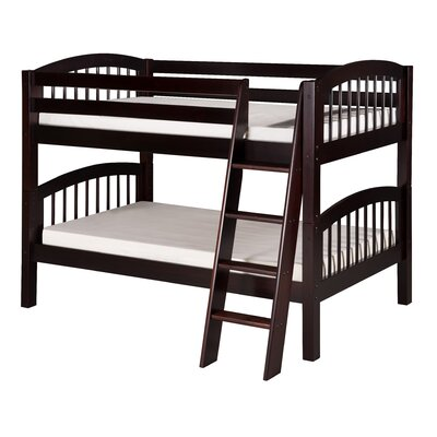 Oakwood Twin over Twin Wood Bunk Bed Color: Cappuccino