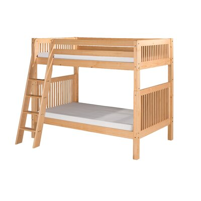 Oakwood Twin Pine Wood Bunk Bed