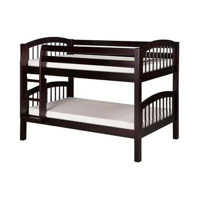 Oakwood Traditional Twin Wood Bunk Bed Color: Cappuccino