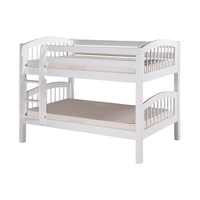 Oakwood Traditional Twin Wood Bunk Bed Finish: White