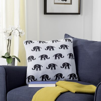 Kylie Baby Elephant Throw Pillow Size: 20 x 20