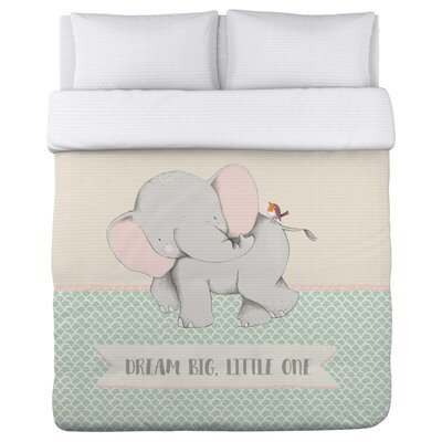 Oak Park Dream Big Little One Scallop Duvet Cover Size: Full/Queen