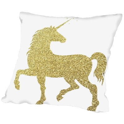 Sierra Bolsover Throw Pillow Size: 16 H x 16 W x 2 D, Color: Gold Glitter