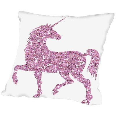 Sierra Bolsover Throw Pillow Size: 16 H x 16 W x 2 D, Color: Pink Glitter