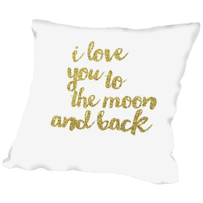 Sierra Throw Pillow Size: 18 H x 18 W x 2 D, Color: Gold