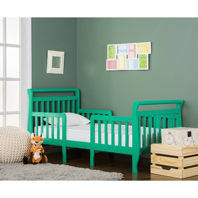 Emma 3 in 1 Convertible Toddler Bed Color: Emerald