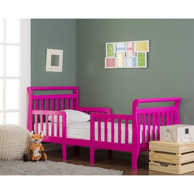 Emma 3 in 1 Convertible Toddler Bed Color: Fuchsia Pink