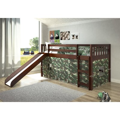 Maribel Mission Twin Low Loft Bed Tent Color: Camo