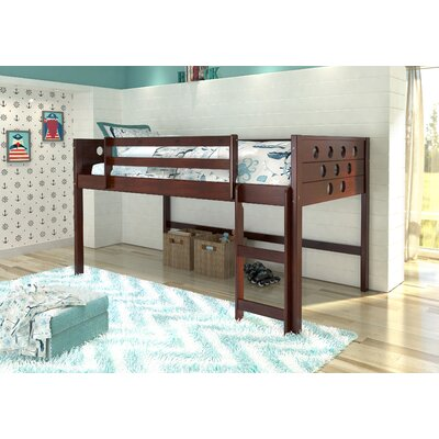 Catherine Circles Twin Loft Bed Tent Color: None, Color: Dark Cappuccino