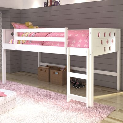Catherine Circles Twin Loft Bed Tent Color: None, Finish: White