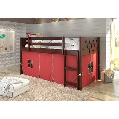 Catherine Circles Twin Loft Bed Tent Color: Red, Color: Dark Cappuccino