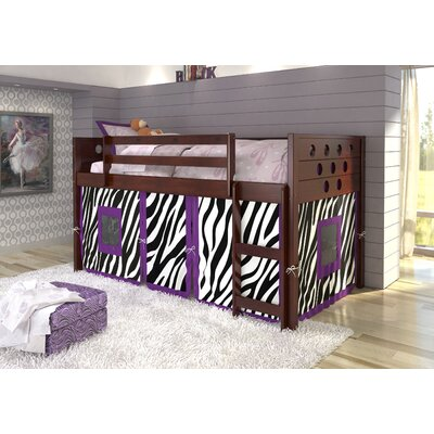 Catherine Circles Twin Loft Bed Tent Color: Zebra, Color: Dark Cappuccino