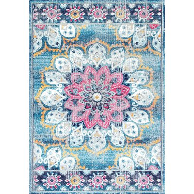 Vera Turquoise Area Rug Rug Size: Rectangle 8 x 10