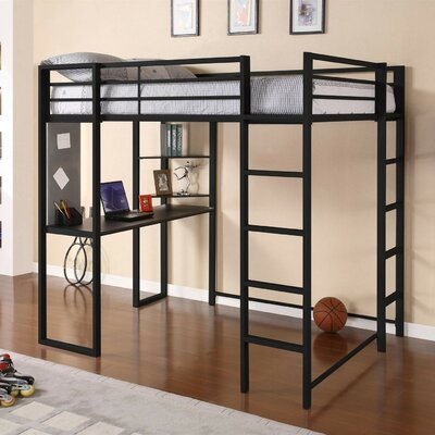 Mary Full Loft Bed Color: Black