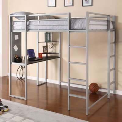 Mary Full Loft Bed Color: Silver