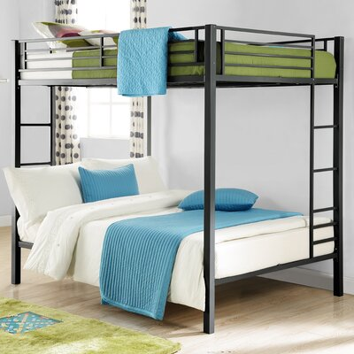 Madeline Full Over Full Bunk Bed Color: Black