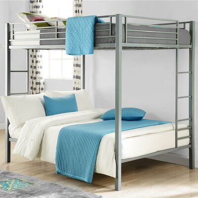 Madeline Full Over Full Bunk Bed Color: Silver