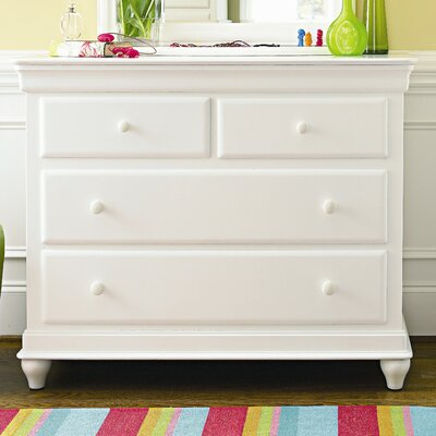 Chassidy Modern 4 Drawer Single Dresser Color: Summer White