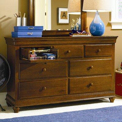 Dayton 7 Drawer Dresser Finish: Saddle Brown