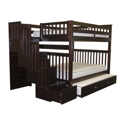 Andrea Full over Full Bunk Bed with Trundle Finish: Cappuccino