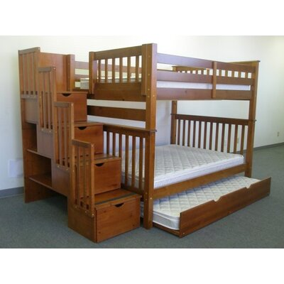 Andrea Full over Full Bunk Bed with Trundle Finish: Espresso