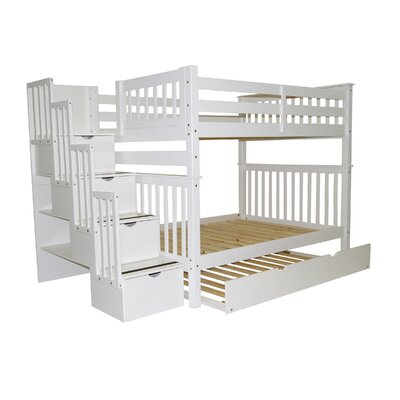 Andrea Full over Full Bunk Bed with Trundle Finish: White
