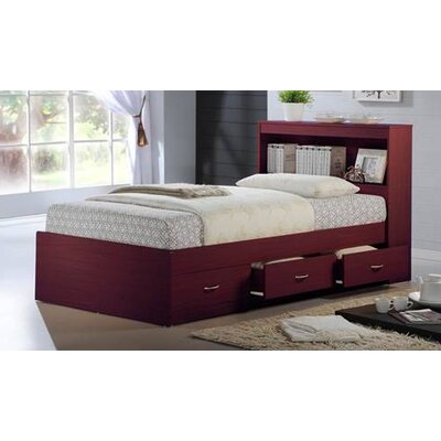 Keira Platform Bed with Storage Finish: Mahogany, Size: Twin