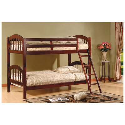 Cassidy Arched Twin Bunk Bed Finish: Esprit Cherry