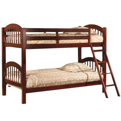 Cassidy Arched Twin over Twin Bunk Bed Color: Esprit Cherry